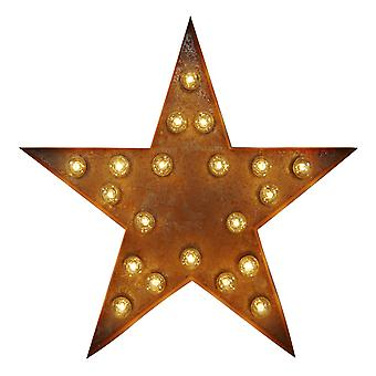 Large Vintage Letter Lights - Star Sign