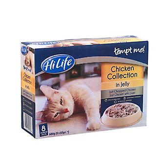 Hilife friste mig kat pose Adult kylling i Jelly 8x85g (pakke med 4)