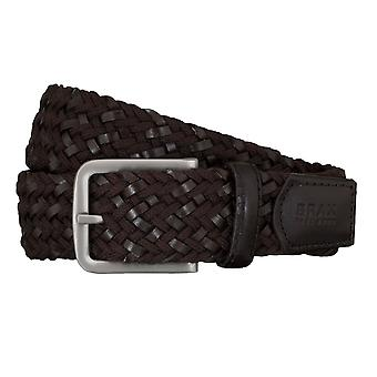 BRAX belts men's belts textile / leather woven belt Brown 5408