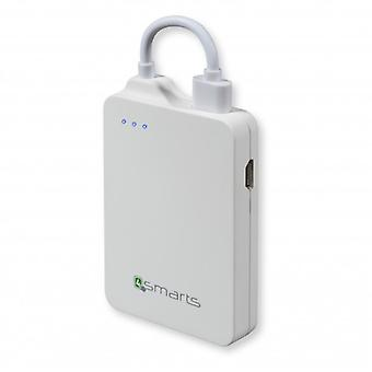 4Smarts universal power Bank charging station 1600 mAh white