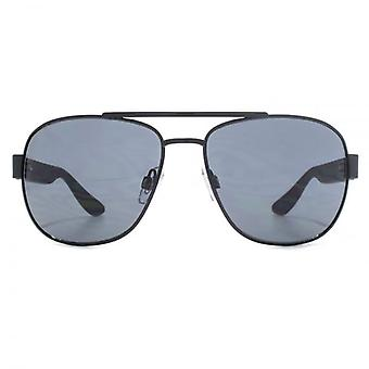 French Connection Wrapped Square Pilot Sunglasses In Black
