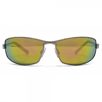 FCUK Metal Wrap Sunglasses In Light Gunmetal