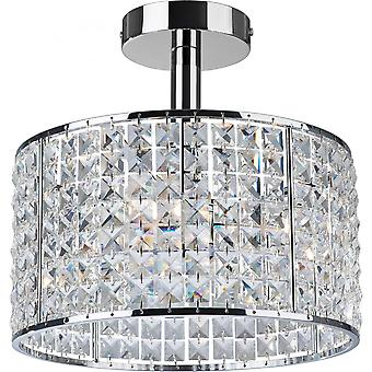 Firstlight Art Deco Chrome Drum Shade Pendant Light