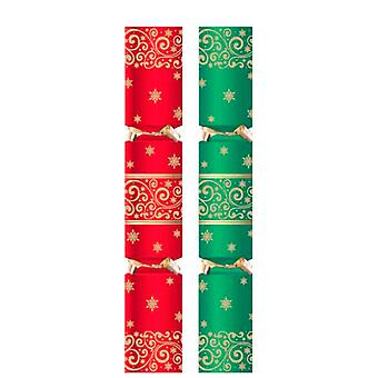 "11"" Green and Red Swirl Cracker - 50"
