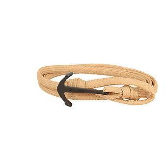 7details premium anchor bracelet for men and women in camel Brown made in Spain