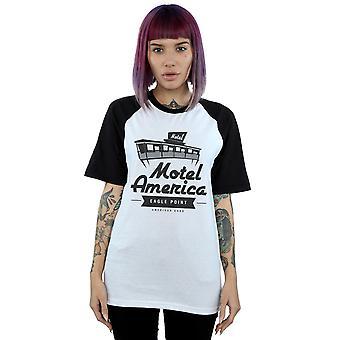 Amerikanske guder kvinders Motel Amerika Baseball T-Shirt