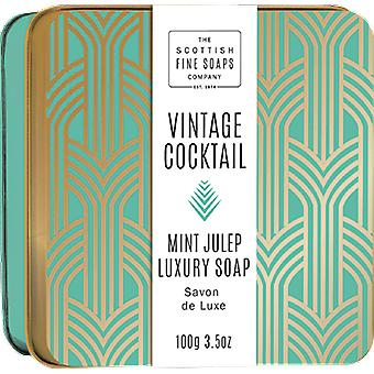 Scottish Fine Soaps Mint Julep Soap in a Tin