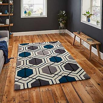 Rugs -Hong Kong Hexagon - HK7526 Grey / Navy
