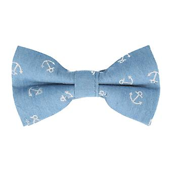 Snobbop-bound fly bright blue anchor loop cotton