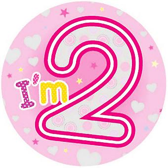 Expression Factory Childrens Girls I Am 2 Today Giant Badge
