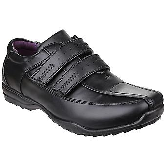 US Brass Childrens Boys Touch Fasten School Shoes