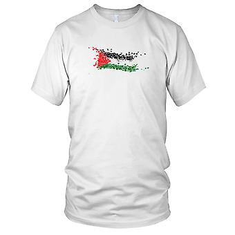 Palestine Flag Grunge Effect Gaza Ladies T Shirt