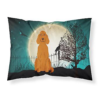 Halloween przerażające Seter irlandzki tkanina standardowa Poszewka na poduszkę