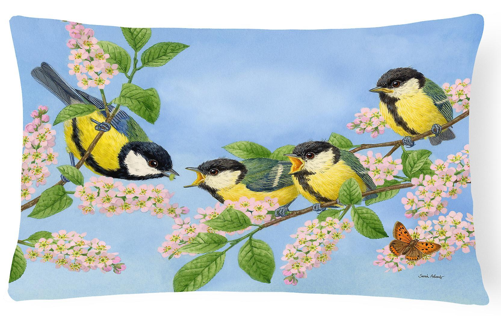Great Tit Family Of Birds Fabric Decorative Pillow Fruugo