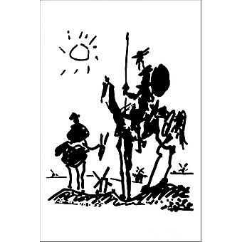 Picasso Don Quijote Poster cartel imprimir Poster Print