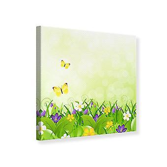Lærred Print sjove sommerfugle