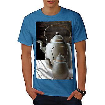 Vintage waterkoker oude voedsel mannen Koninklijke Bluetooth-shirt | Wellcoda