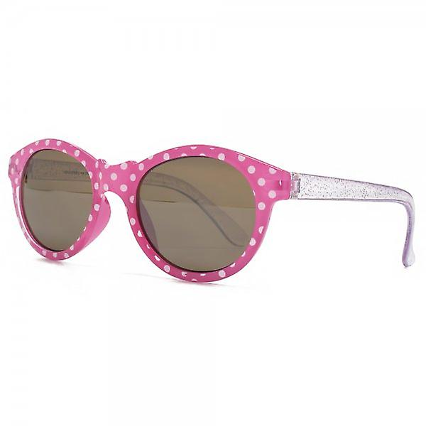 Monkey Monkey Childrens Elsie Polka Dot Preppy Sunglasses In Pink
