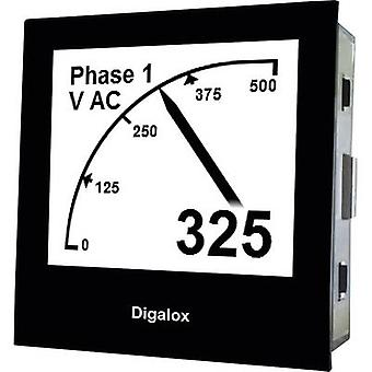 TDE Instruments Digalox DPM72-AVP Graphical DIN-panelmeter for Voltage and Ampere with USB inter