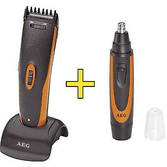 Hair clipper, Beard trimmer, Ear/nose hair trimmer AEG HSM/R5597 Black, Orange