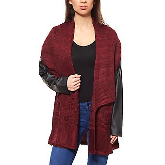 Laura Scott jacket long knitted ladies Cardigan Red
