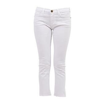 Current Elliott women's 15700042SUGAR white cotton of jeans