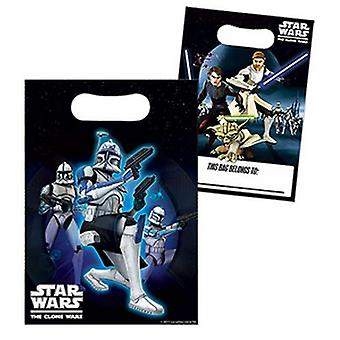 Star Wars The Clone Plastic Loot Bags (Pack of 8)