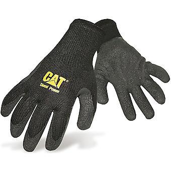 CAT Workwear Mens Workwear Knit Wrist Latex Palm Gloves