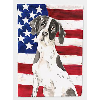 Carolines Treasures  CK1732GF Patriotic USA English Pointer Flag Garden Size