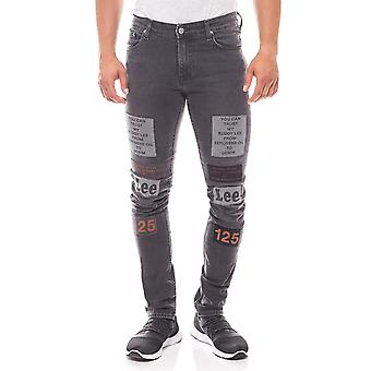 Lee all gender slim fit men's Jeans pants with grey patches