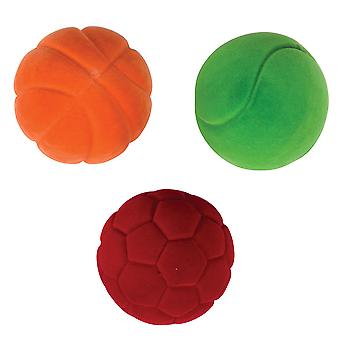 Rubbabu Soft Plush Small Balls (Pack of 3) Safe for Babies, Children