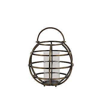 Light & Living Lantern Ø40x49 Cm TILA Wire Raw Antique Bronze-glass