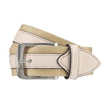 OTTO KERN belts men's belts leather belt taupe/grey 3674