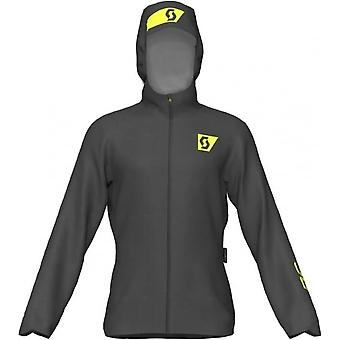 RC Run Mens Waterproof Breathable Running Jacket Black/Yellow