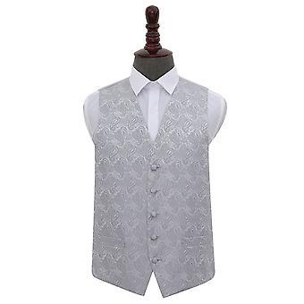 Silver Paisley Wedding Waistcoat