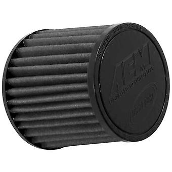 AEM 21-202BF-OS Universal DryFlow Clamp-On Air Filter: Round Tapered; 2.75 in (70 mm) Flange ID; 5 in (127 mm) Height; 5