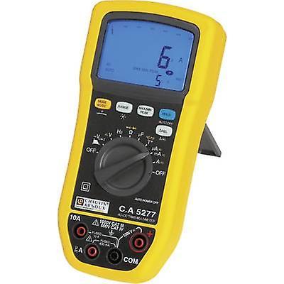 Chauvin Arnoux C.A 5277 poche multimètre numérique calibré à  normes de fabricants (sans certificat) prougeégé contre les éclaboussures (IP54) CAT III 1000 V, CAT IV 600 V