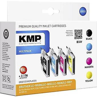KMP Ink replaced Brother LC-985 Compatible Set Bla