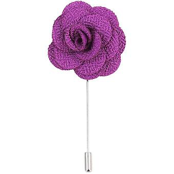 David Van Hagen Flower Lapel Pin - Purple