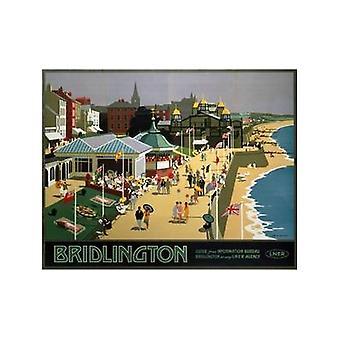 Bridlington (Strand) (alte Schiene Ad.) Kühlschrank-Magnet