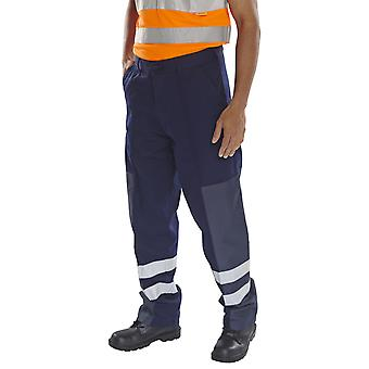 Click Workwear Poly Cotton Reinforced  Work Trousers Navy - Pcnt27N