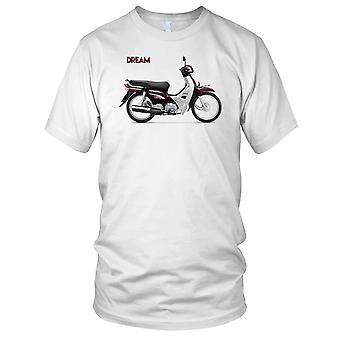 Honda Dream Classic Scooter Ladies T Shirt