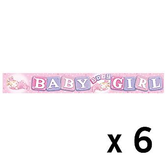 Expression Factory Holo Foil Banner Birthday Girl Six Pack