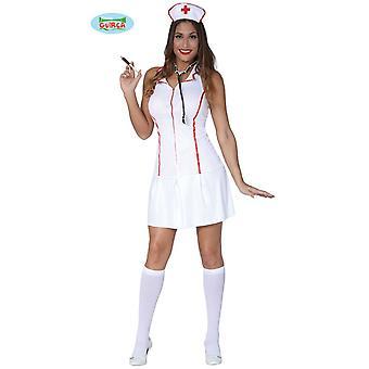 Sexy Krankenschwester Kleid Karneval Kostüm für Damen