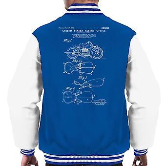 Indian Motorcycle Saddle Patent Blueprint Men's Varsity Jacket