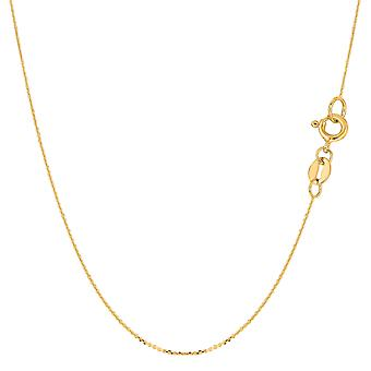 14 k giallo oro cavo Link Chain Necklace, 0,6 mm