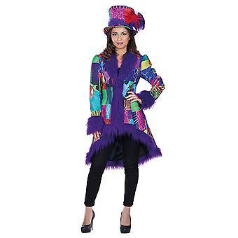 Multi patch coat plush women's costume Carnival Mardi