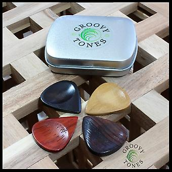 Groovy Tones Mixed Tin of 4 Guitar Picks  GRY-MT-4