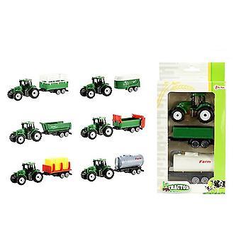 Mini Tractor met 2 aanhangers