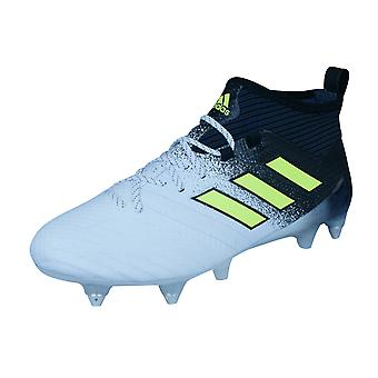 adidas Ace 17.1 SG Mens Soft Ground Football Boots / Cleats - White and Black